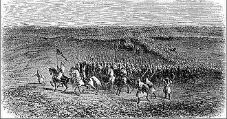 Kingdom of Ait Abbas - The troops of the regency of Algiers allied to the kingdom of Beni Abbes marching towards Tlemcen.