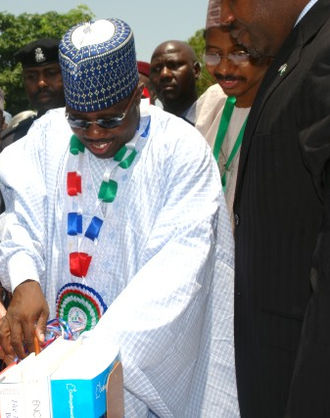 Ali Modu Sheriff - Ali Modu Sheriff opening a foreign sponsored library in Maiduguri, 2007.