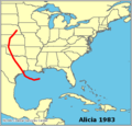 Alicia 1983 map.png