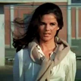 MacGraw in 1972 voor de trailer van de film The Getaway