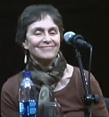 Shulman at discussion at Elizabeth A. Sackler Center for Feminist Art in 2010