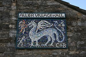 Aller, Somerset - Aller Village Hall Mosaic