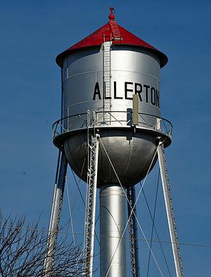 Allerton, Iowa - Image: Allerton Iowa water tower