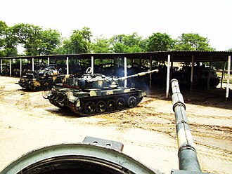 Al-Zarrar tank - Al-Zarrar MBTs of the Pakistan Army's 27th Cavalry regiment stationed at Kharian.