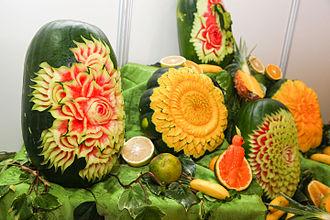 Fruit carving - Ecuadorian carved fruit