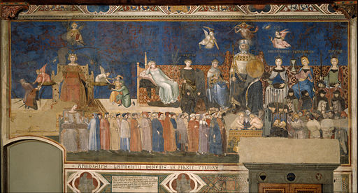 Ambrogio Lorenzetti - Allegory of Good Government - Google Art Project