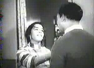 Amchem Noxib - A still from Frank Fernand's monochrome Konkani film Amchem Noxib.