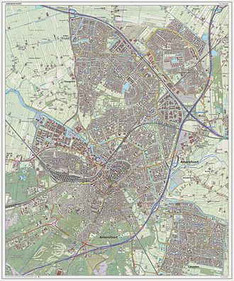 Amersfoort - Topographic map of Amersfoort, Sept. 2014