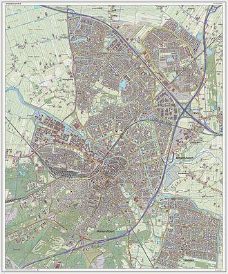 Amersfoort - Topographic map of Amersfoort, Sept. 2014