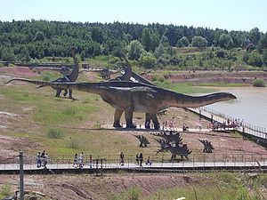 Amphicoelias - Hypothetical sculpture in Poland