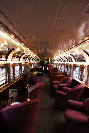 Parlor car - The interior of a Pacific Parlour Car.