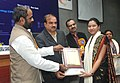 Ananth Kumar presented the 6th National Awards for Technology Innovation in Petrochemicals & Downstream Plastics Processing Industry, at a function, in New Delhi. The Minister of State for Chemicals & Fertilizers (2).jpg