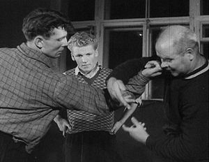 Anatoly Kharlampiyev - Training self-defense techniques, 1957, Moscow Power Engineering Institute