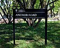 Anchor Road sign City of London Cemetery Newham England 1.jpg