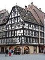 Ancienne pharmacie du Cerf, aujourd'hui La Boutique Culture, à l'angle de la rue Mercière et de la Place de la Cathédrale, Strasbourg.jpg
