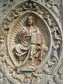 Andrea da Giona, Altarpiece with Christ in Majesty, Saint John the Baptist and Saint Margaret (detail), 1434 (5445285393).jpg