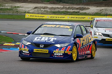 Andrew Jordan in his NGTC Honda Civic during practice at Thruxton Circuit, April 2012 Andrew Jordan, Thruxton, Apr 2012 (practice).jpg