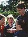 Andrew Richardson, Kent FLO with school children.jpg