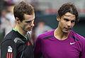 Andy Murray and Rafael Nadal Japan Open 2011.jpg