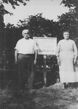 Bellview Winery - Angelo Quarella, founder of Bellview Farms, with wife