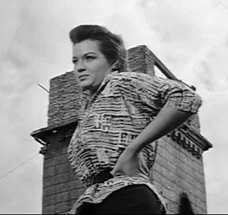 Angie Dickinson - Angie Dickinson played an Asian character in China Gate (1957).