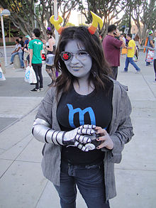 A Cosplayer Portraying Vriska