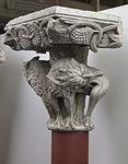 Anonyme toulousain - Chapiteau de colonne appliquée , Lions mordant des lianes - Musée des Augustins - ME 242 (2).jpg