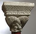Anonyme toulousain - Chapiteau de colonnes jumelles , Oiseau aux cous enlacés - Musée des Augustins - ME 166 (3).jpg