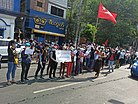 Anti-coup protest near the University of Yangon (8 February 2021).jpg