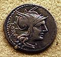 Antica roma, moneta con personificazione della dea roma.JPG