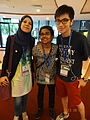 Arabic, Chinese & Indian Wikipedias in Wikimania 2013.JPG