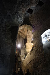 Archway near the Grotto of the Cross, Holy Sepulchre 2010.jpg