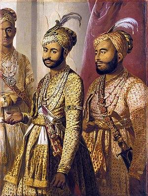 Umdat ul-Umara - Umdat ul-Umara and Amir ul-Umara, sons of Muhammed Ali, portrait by Tilly Kettle