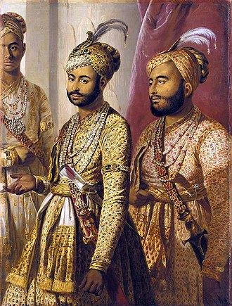 Umdat ul-Umara - Umdat ul-Umara and Amir ul-Umara, sons of Muhammad Ali, portrait by Tilly Kettle