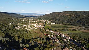 Areal view of Saint Laurent Du Pape from the west side of the village.jpg