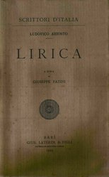 Ludovico Ariosto: Lirica