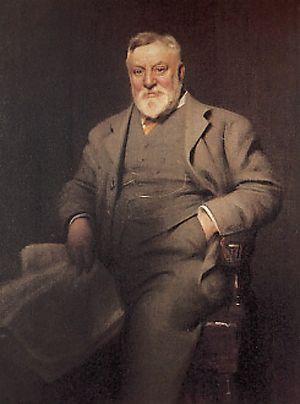 Arthur Lasenby Liberty - Portrait of Liberty by Arthur Hacker (1913)