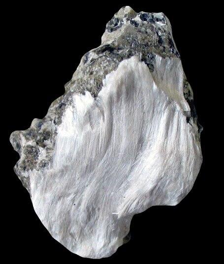 Asbestos with muscovite