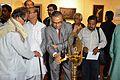 Ashim Kumar Banerjee - Inaugural Lamp Lighting - Biswatosh Sengupta Solo Exhibition - Kolkata 2013-12-11 5061.JPG