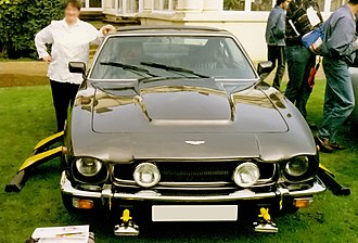 The Living Daylights - The official car, the Aston Martin V8 Vantage (Series 2), at a James Bond convention.