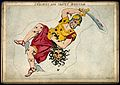 Astrology; signs of the zodiac, Perseus with Medusa's head. Wellcome V0024924.jpg