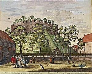 Burcht van Leiden - Image: Atlas de Wit 1698 pl 017 Leiden de burcht