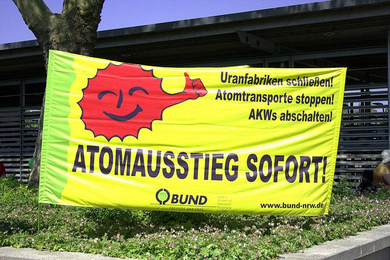 Atomausstieg sofort - Transparent BUND NRW 2011