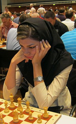 Sport in Iran - Atousa Pourkashiyan, Iranian chess Woman Grandmaster.