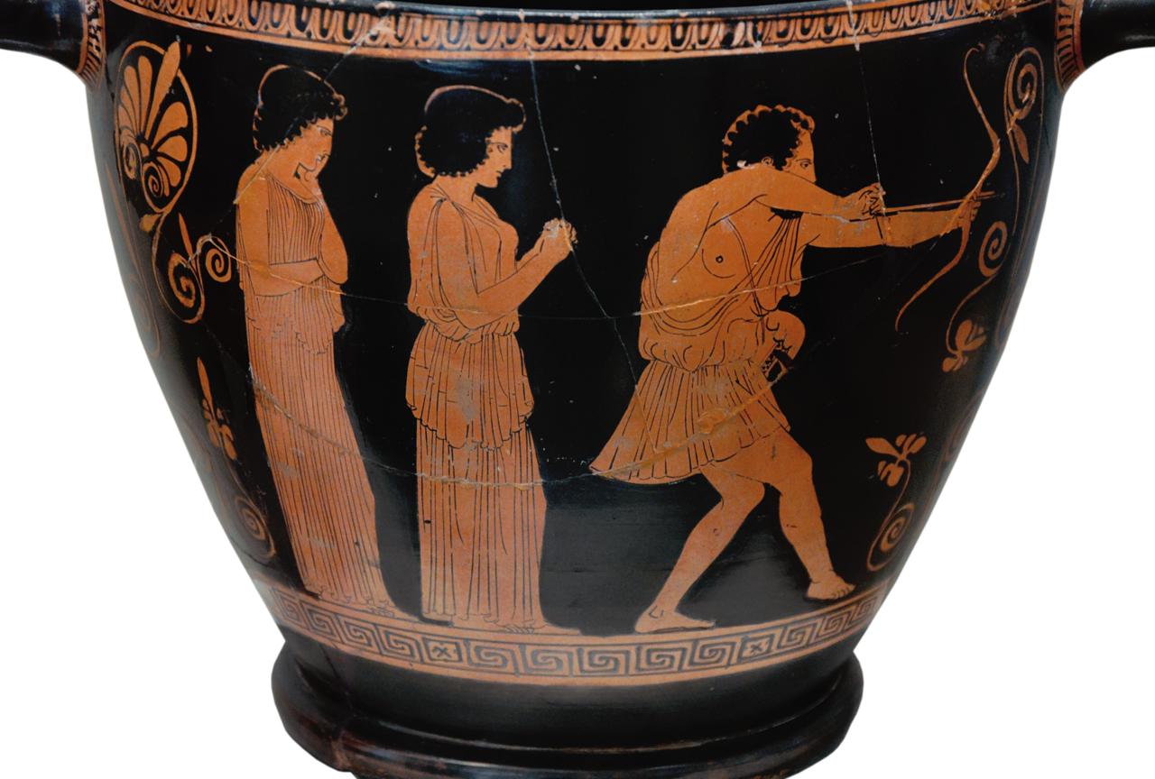 File Attic Red Figure Skyphos Odysseus Slays The Suitors