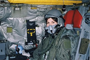 Sharyl Attkisson - Attkisson on USAF B-52 in 1999, one of the first journalists to fly on a combat mission over Kosovo