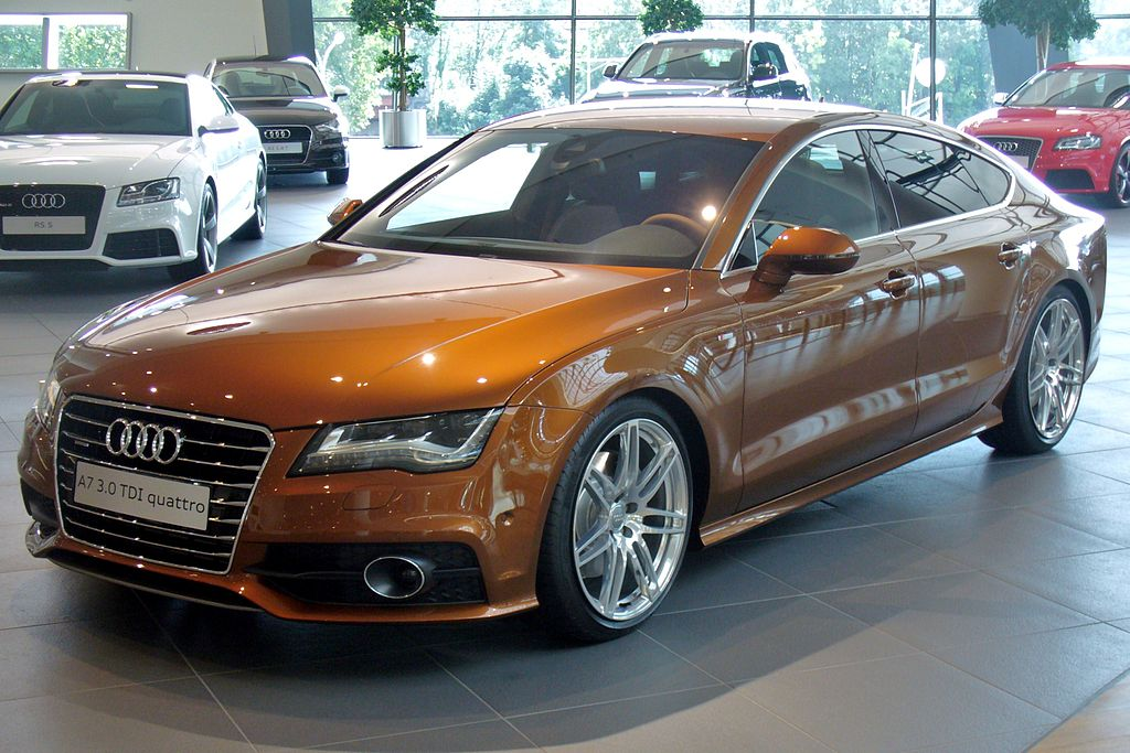 file audi a7 sportback s line 3 0 tdi quattro s tronic ipanemabraun jpg wikimedia commons. Black Bedroom Furniture Sets. Home Design Ideas