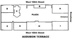 Audubon Terrace - Image: Audubon Terrace plan