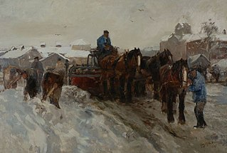 Sneeuwruimers bij het Oostplein