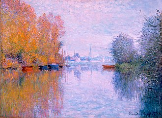 Autumn on the Seine, Argenteuil by Claude Monet, 1873 Autumn on the Seine, Argenteuil by Claude Monet, High Museum of Art.jpg